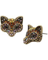 Betsey Johnson | Fox Stud Earrings | Lyst