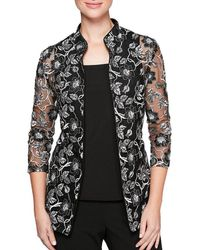 Alex Evenings - 3/4 Sleeve Embroidered Twinset - Lyst