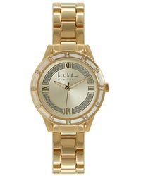 Nicole Miller - Glitter Analog Bracelet Watch - Lyst