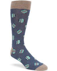 Cremieux - Stripe Dot Calf Socks - Lyst