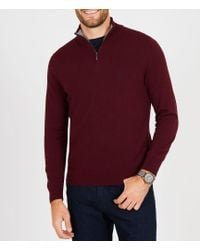 Nautica - Big & Tall Colorblocked Quarter-zip Pullover - Lyst