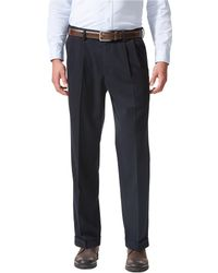 Dockers Non-iron Comfort Khaki Expander Relaxed-fit Pleated Pants - Black