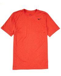 36f2c264 Nike Dry Short-sleeve Camo Legend Training T-shirt in Blue for Men ...