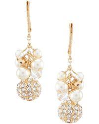 Anne Klein - Shaky Pearl Drop Earrings - Lyst
