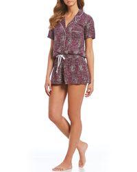 Splendid - 2-piece Speckled Dot Print Woven Pajama Set - Lyst