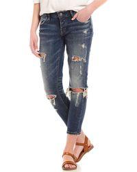 Silver Jeans Co. - Kenni Girlfriend Destructed Ankle Skinny Jeans - Lyst