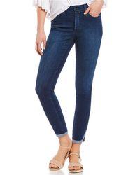 NYDJ - Petites Ami Skinny Split Dolphin Hem Ankle Jeans - Lyst