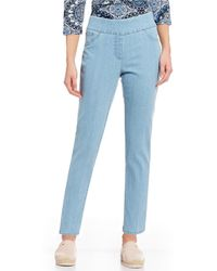 Ruby Rd. - Extra Stretch Denim Straight Leg Ankle Pull-on Pants - Lyst