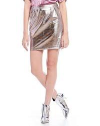 Sugarlips - Metallic Foil Mini Skirt - Lyst