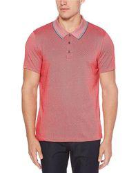 Perry Ellis - Diagonal Jacquard Short-sleeve Polo Shirt - Lyst