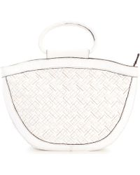 Patricia Nash Braided Stitching Collection Ossi Top Ring Handle Tote