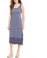 a3fc7b3401 Tommy Bahama - Villa Scoop Neck Stripe Sleeveless Midi Dress - Lyst