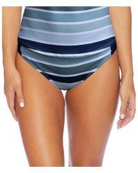 Next By Athena - Surfing Stripes Chopra Midrise Full Coverafe Striped Bikini Swimsuit Bottom - Lyst