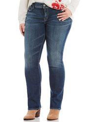 Silver Jeans Co. - Plus Curvy Fit Elyse Straight Jean - Lyst