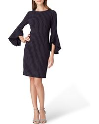 Tahari - Pin Stripe Bell Sleeve Sheath Dress - Lyst