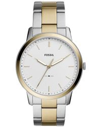 Fossil - The Minimalist Three-hand Two-tone Stainless Steel Watch - Lyst