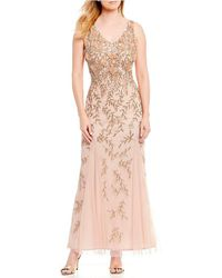 Pisarro Nights - V-neck 3d Floral Gown - Lyst