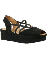 L'amour Des Pieds - L Amour Des Pieds Adelais Nubuck Slip-on Platform Sandals - Lyst