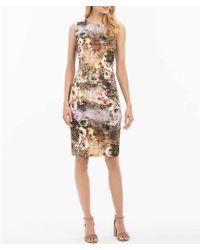 Nicole Miller - Printed Sheath Dress - Lyst