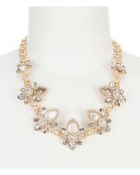 Belle By Badgley Mischka - Multi Navette Stone Frontal Statement Necklace - Lyst