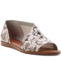 1.STATE - Celvin Leather Snake D'orsay Flats - Lyst