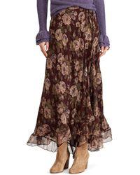 Polo Ralph Lauren - Floral-print Silk Maxiskirt - Lyst
