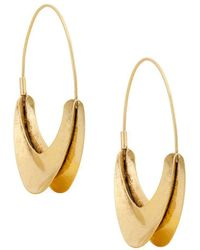 Lucky Brand - Gold Organic Hoop Earrings - Lyst