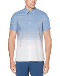 Perry Ellis - Ombre Stripe Stain-resistant Water-repellent Short-sleeve Woven Shirt - Lyst