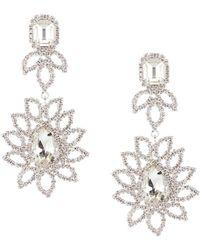 Cezanne Crystal Floral Statement Earrings