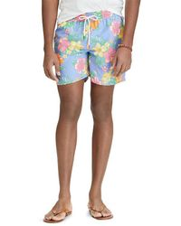 Polo Ralph Lauren - Big And Tall Hibiscus Traveler Swim Trunks - Lyst