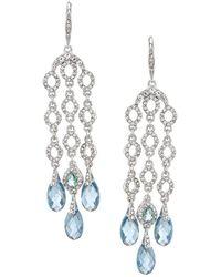 Jenny Packham - Blue Chandelier Statement Earrings - Lyst