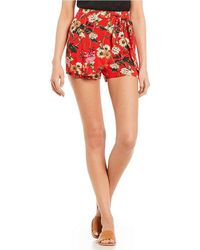 Blu Pepper - Floral Tie-front Shorts - Lyst