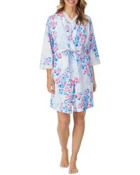 Carole Hochman - Watercolor Floral Chemise Robe & Gown Set - Lyst