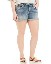 Silver Jeans Co. - Plus Sam Shorts - Lyst