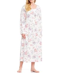 Carole Hochman - Plus Floral-print Jersey Knit Long Nightgown - Lyst