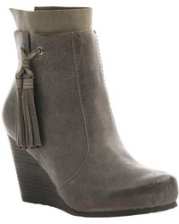Otbt - Vagary Oil Suede Wedge Booties - Lyst