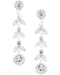 Cezanne - Linear Laurel Earrings - Lyst