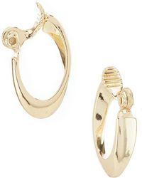 Anne Klein - Small Oval Hoop Earrings - Lyst