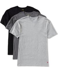 Polo Ralph Lauren - Classic Fit Assorted Crewneck Tees 3-pack - Lyst