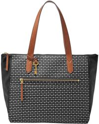 Fossil - Fiona Striped East/west Tote - Lyst