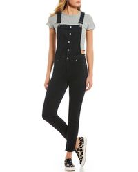 Celebrity Pink - Rolled Cuff Overalls - Lyst