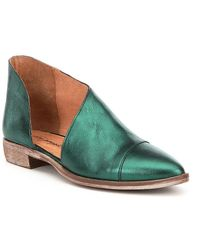 Free People - Royale D ́orsay Slip-on Leather Boots - Lyst