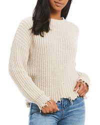 Chelsea & Violet - Long Sleeve Crew Neck Sweater - Lyst