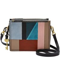 Fossil - Campbell Patchwork Cross-body Bag - Lyst