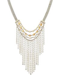 Lucky Brand - Citrine Layered Statement Necklace - Lyst
