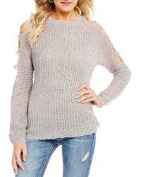 Banjara - Cutout Shoulder Lurex Sweater - Lyst