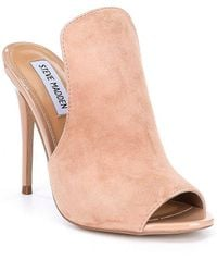Steve Madden - Sinful Suede And Patent Dress Mules - Lyst