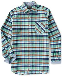 Psycho Bunny - Multi-color Plaid Flannel Long-sleeve Woven Shirt - Lyst