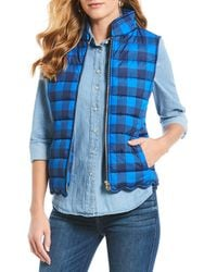 Draper James - Buffalo Check Scalloped Hem Vest - Lyst