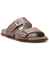 Ocel Leather Double Buckle Banded Sandals CsRqrmE
